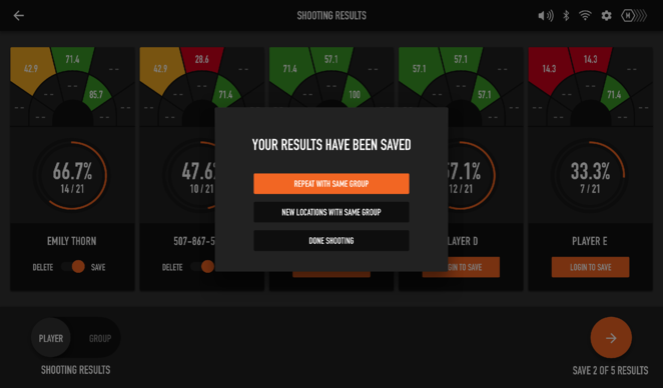 Multi Player - Group Shooting - Save Confirm