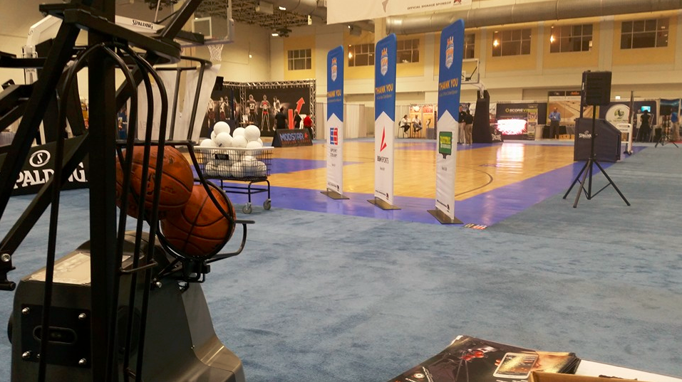 Team Sports Expo - Dr. Dish Basketball Shooting Machine