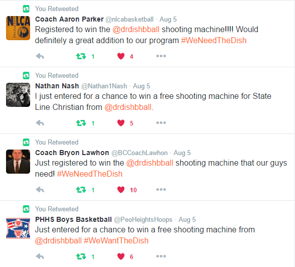 Dr. Dish basketball shooting machine giveaway excitement