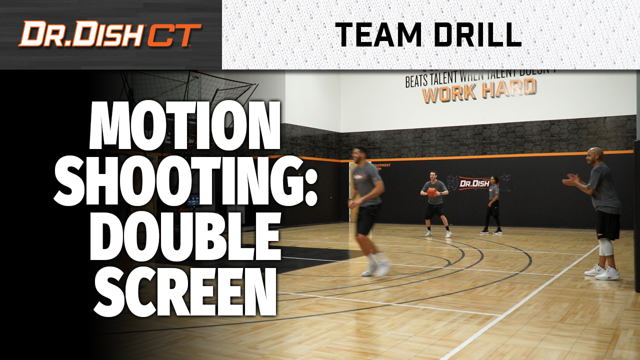 Team Basketball Shooting Machine Drills: Double Screen Action