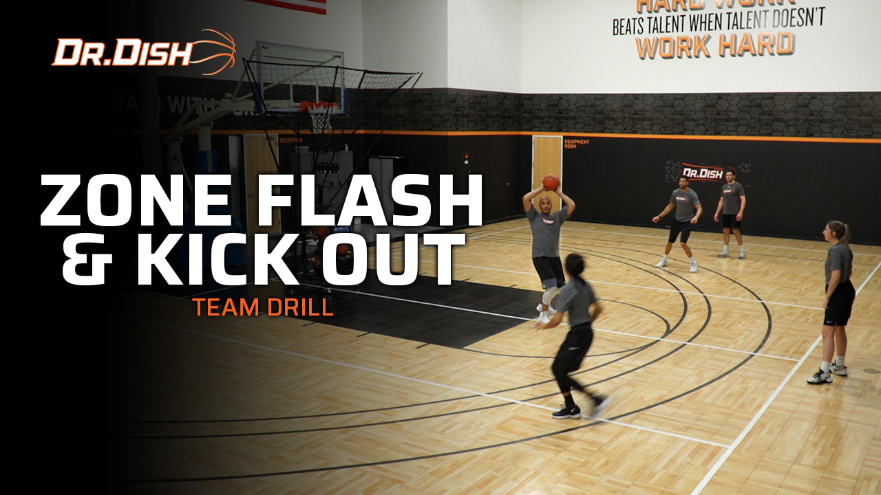 Basketball Team Shooting Drills: Zone Flash & Kick