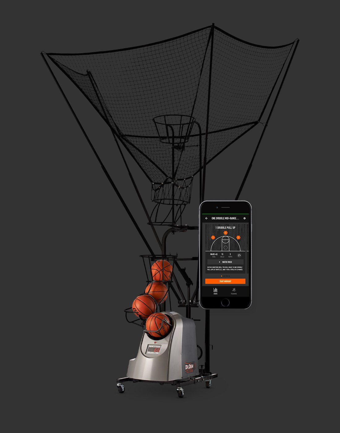 Dr. Dish All-Star Basketball Shooting Machine