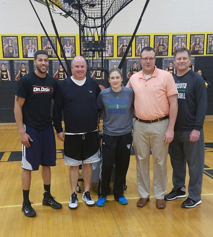 Lindsay Whalen Donates Shooting Machines to Hutchinson High School
