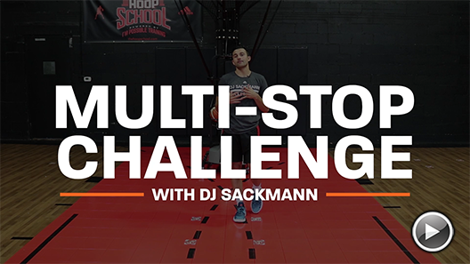Basketball Drills: Multi Stop Challenge with DJ Sackmann