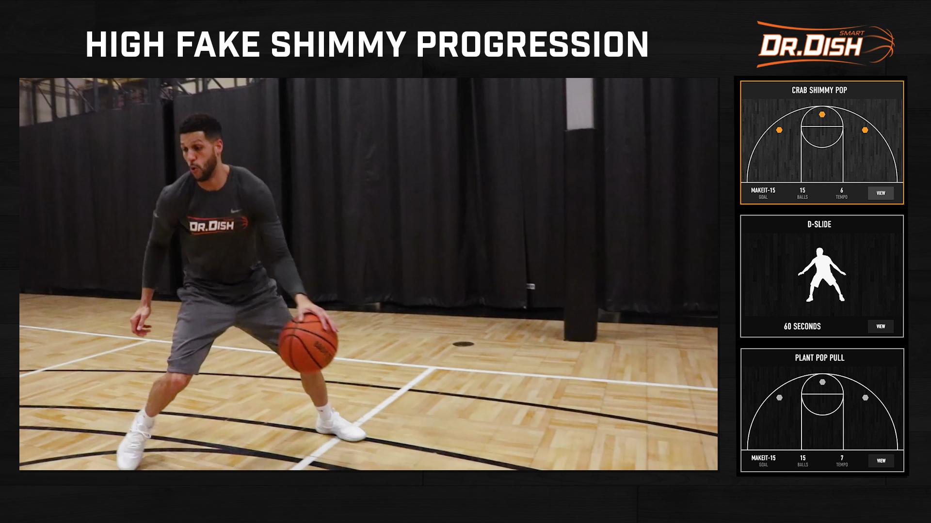 Basketball Drills: High Fake Shimmy Pop Progression Skill Builder Workout