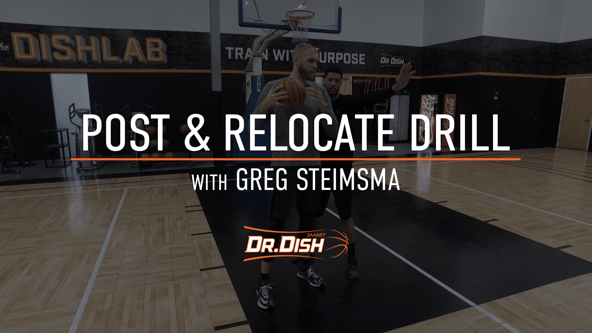 Basketball Drills: Post and Relocate Action with Greg Stiemsma