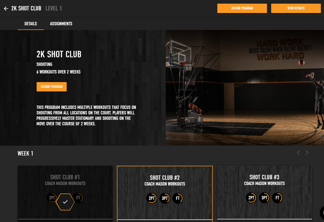 Dr. Dish Shot Club Training Programs