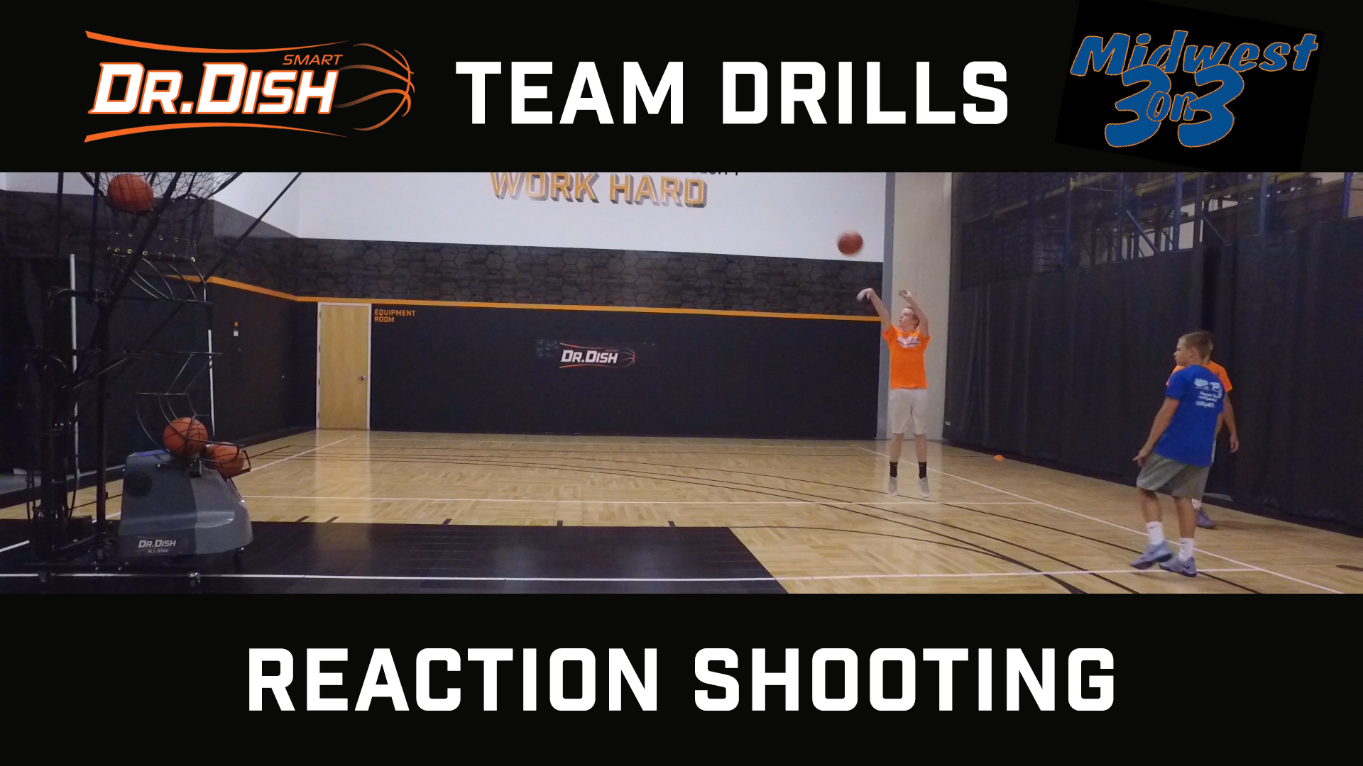 Basketball Drills: Reaction Shooting with Midwest 3 on 3