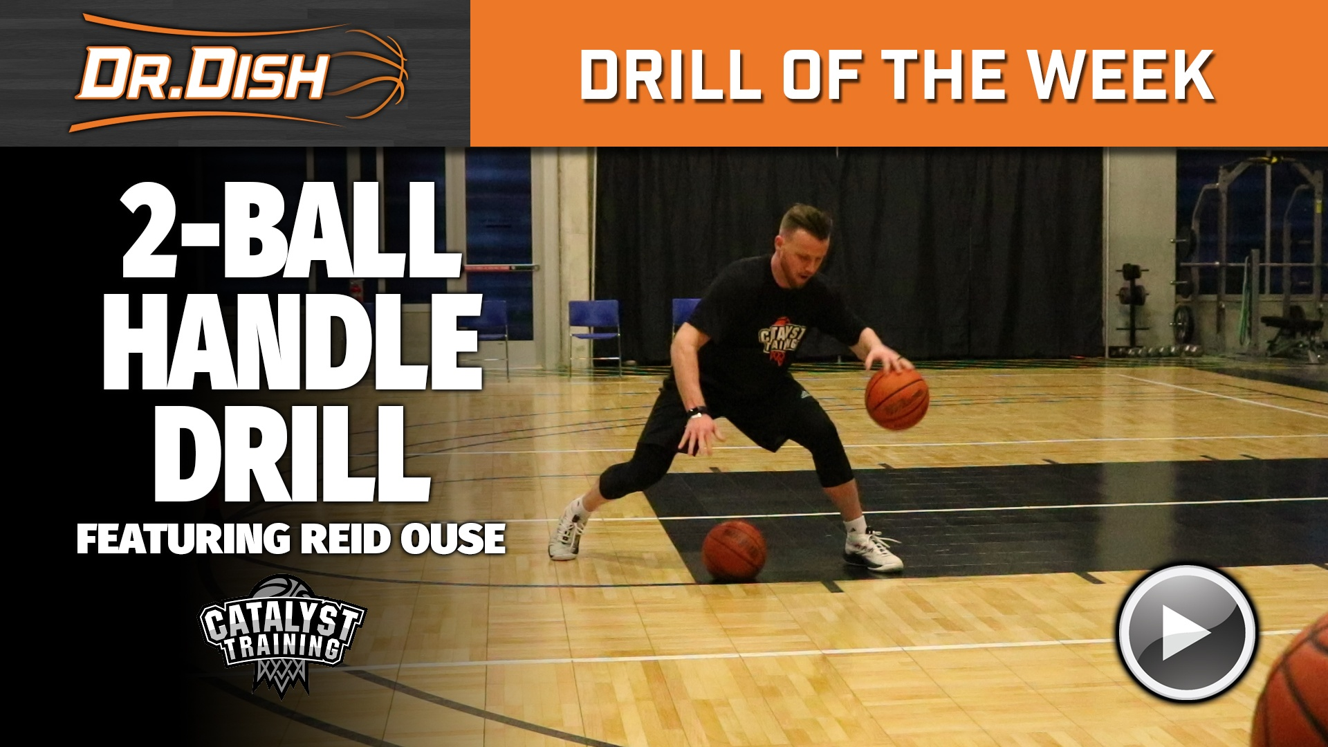 Basketball Drills: Advanced Two Ball Handling Drills with Reid Ouse