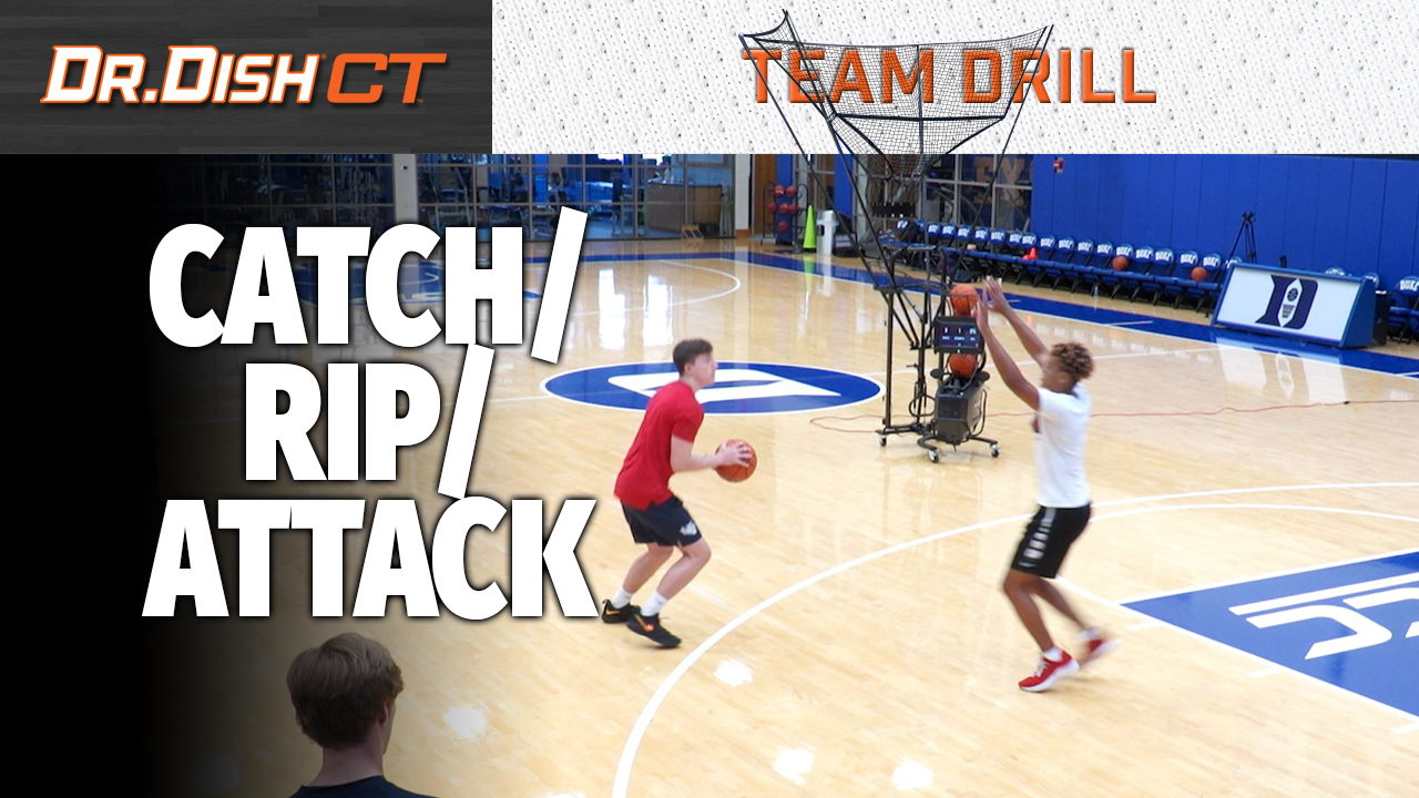 Duke Finishing Drill: Catch, Rip, Attack