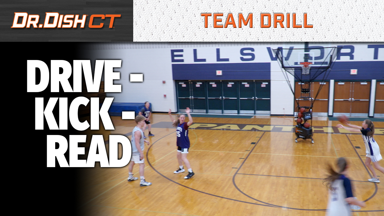 Decision Making Basketball Shooting Drill: Drive, Kick, Read