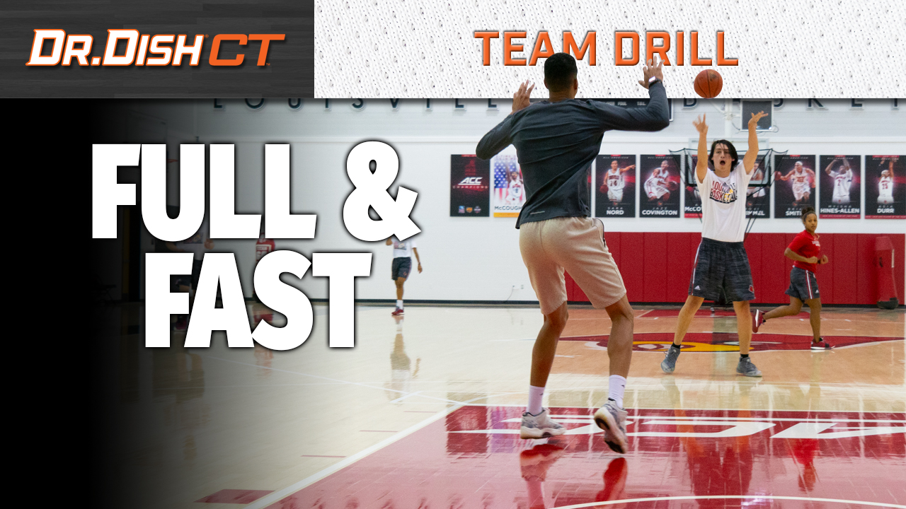 Louisville Basketball Team Drill: Full and Fast