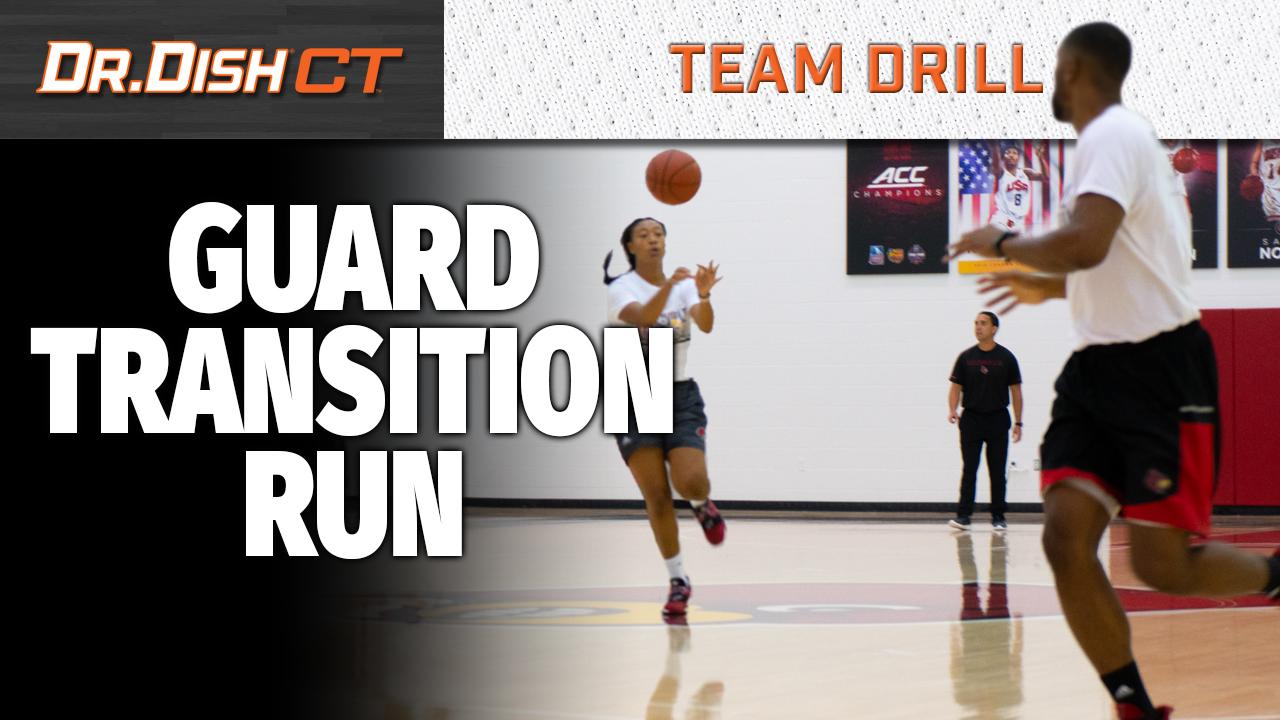 University of Louisville Team Drill: Guard Transition Run