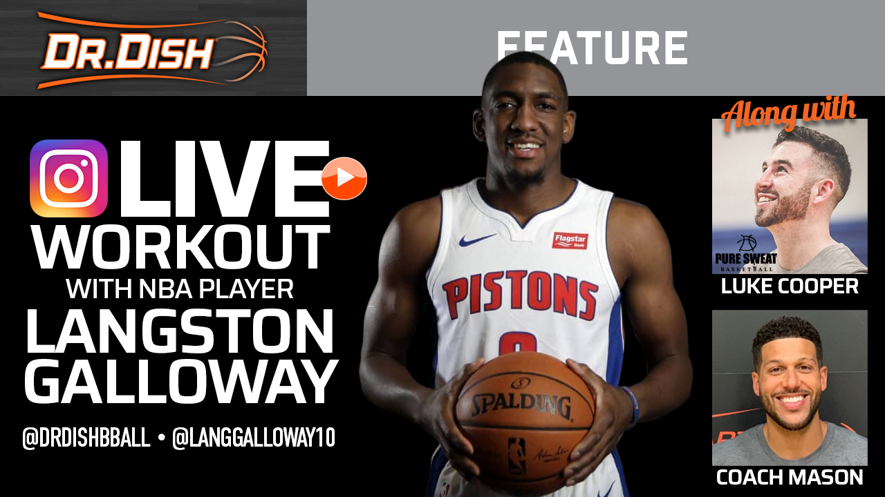 Instagram LIVE workout with NBA Player Langston Galloway (Recording)