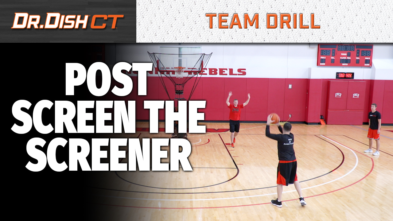 Basketball Drills: UNLV Post Screen the Screener