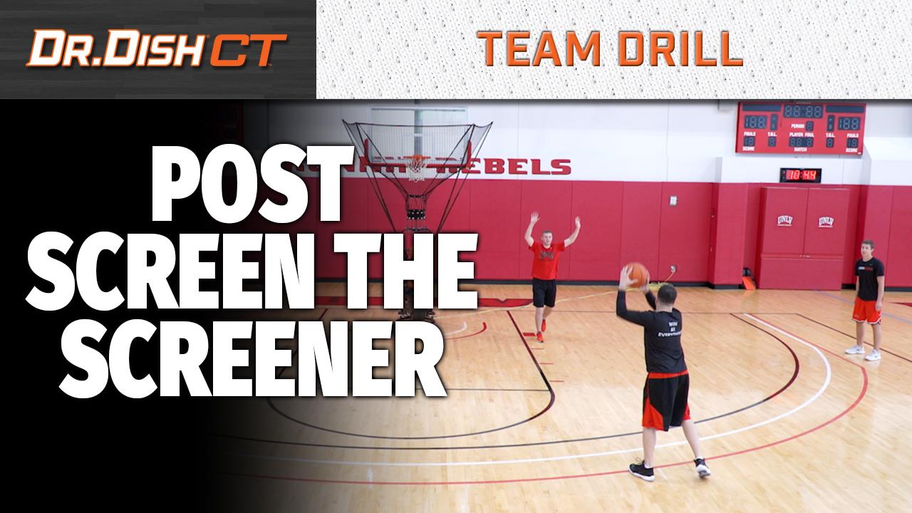 Basketball Drills: UNLV Post Screen the Screener