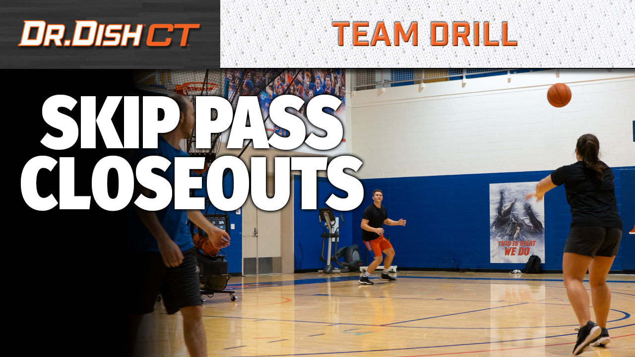 University of Florida Team Shooting Drill: Skip Pass Closeouts