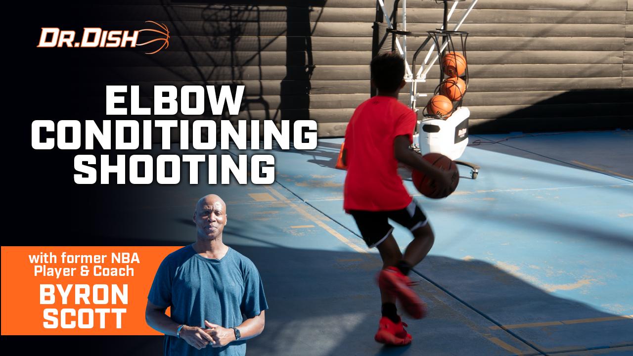 Byron Scott Dr. Dish Shooting Drill: Elbow Conditioning Shooting