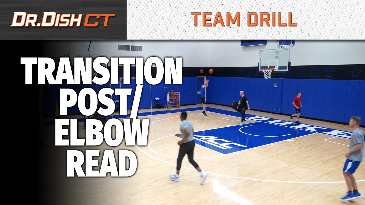 Duke Basketball Team Drill: Transition Post Elbow Read