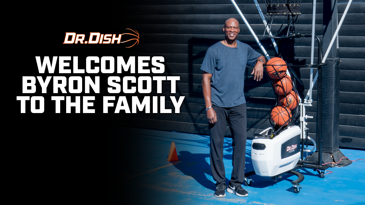Dr. Dish Welcomes Byron Scott to the Family with an NBA Shooting Challenge