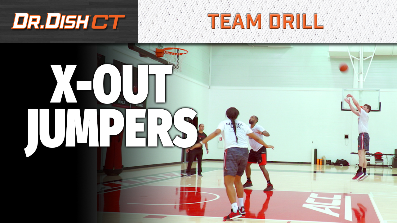 Basketball Team Drills: Louisville X Out Jumpers