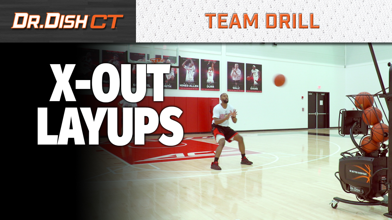 Basketball Drills: Louisville X Out Layups
