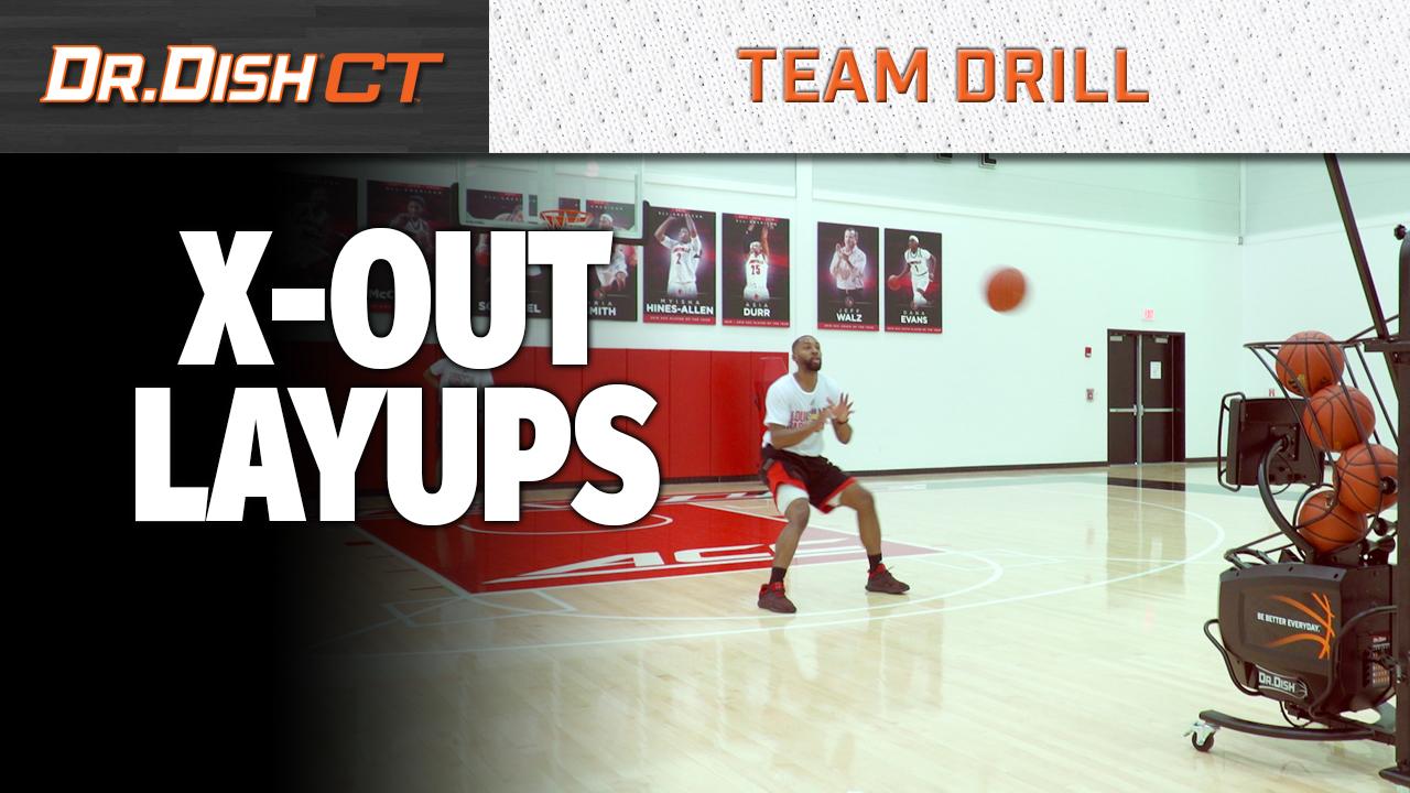 Basketball Drills: Louisville X Out Layups