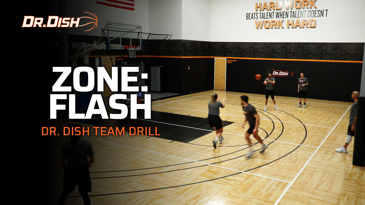 Basketball Team Shooting Drills: Zone Flash