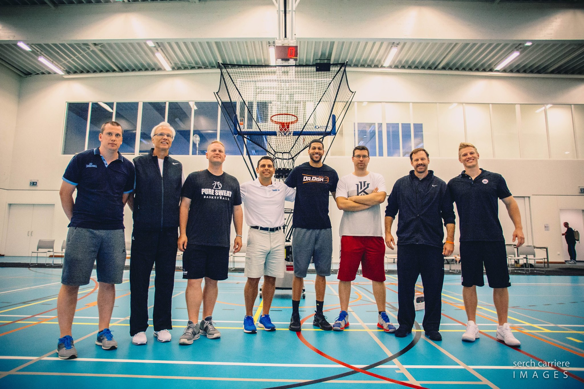 Coach Mason Visits the Belgian Basketball Clinic
