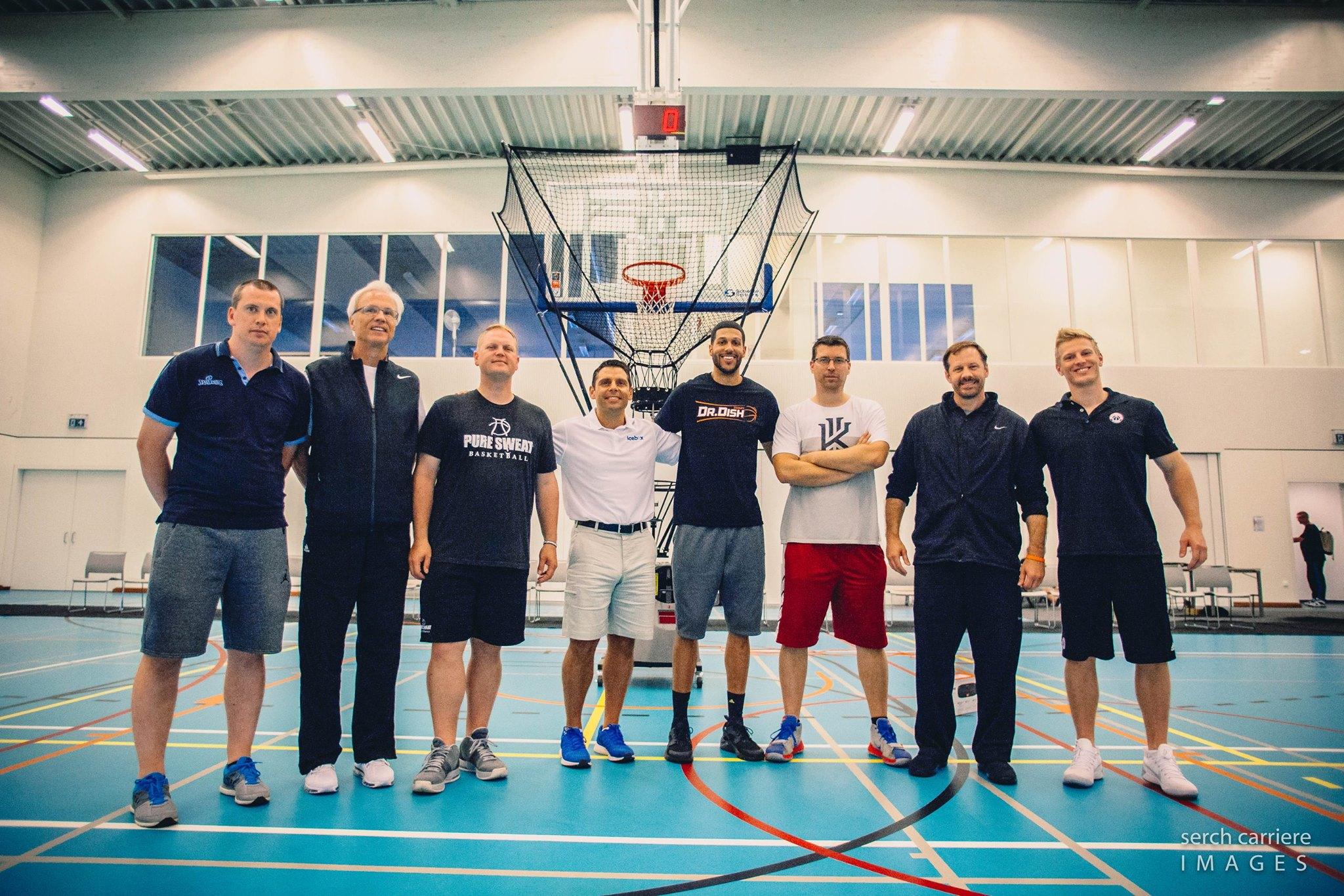 Coach Mason Visits the Belgian Basketball Clinic