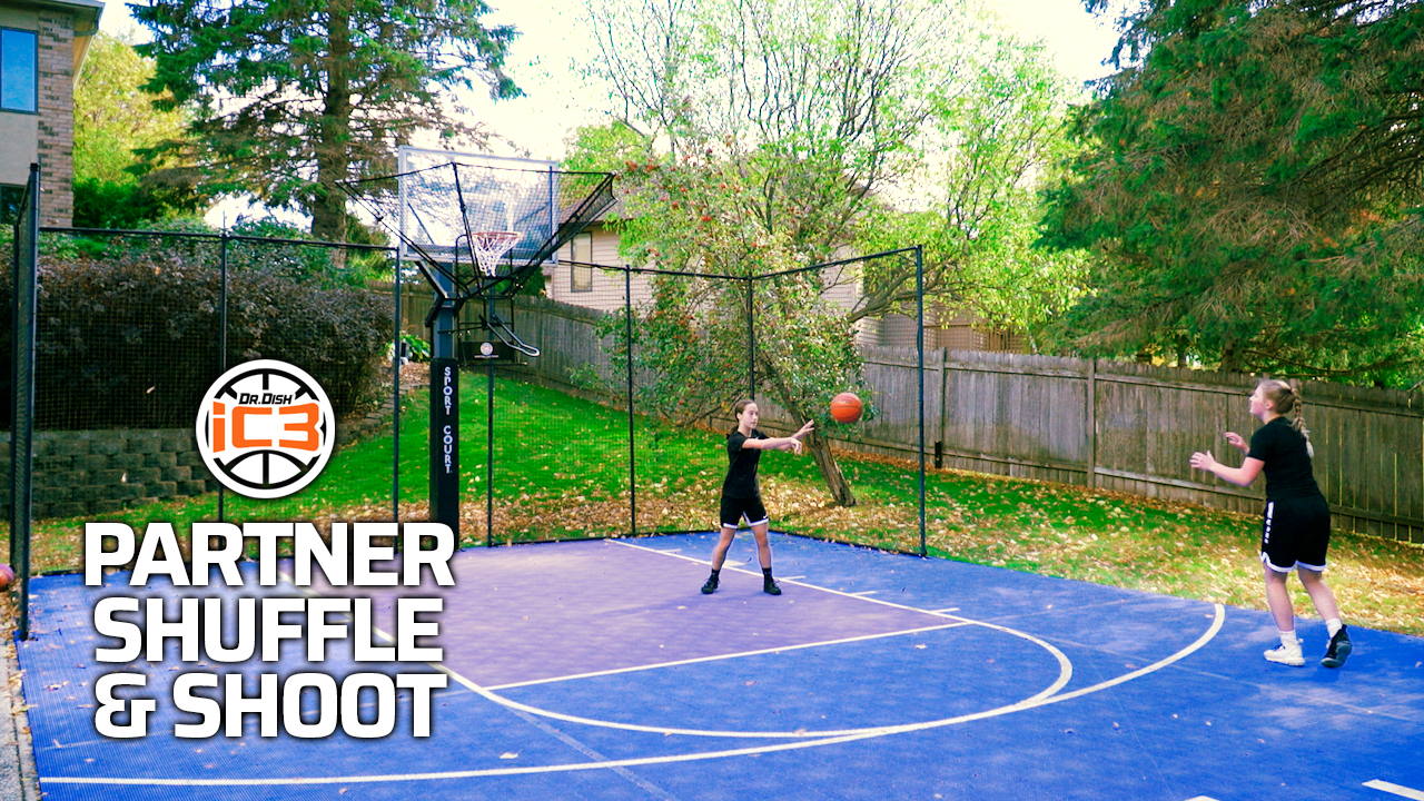 iC3 Basketball Drills: Partner Shuffle & Shoot Drill
