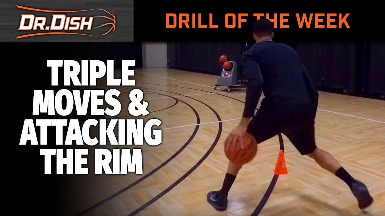 Basketball Drills: Triple Moves and Finishing at the Rim
