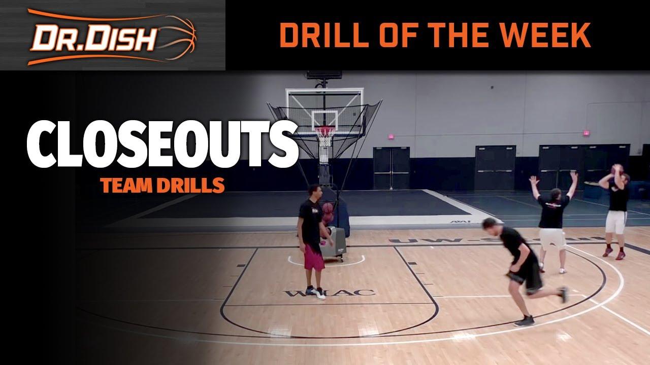Basketball Shooting Drills: Team Closeout Drills