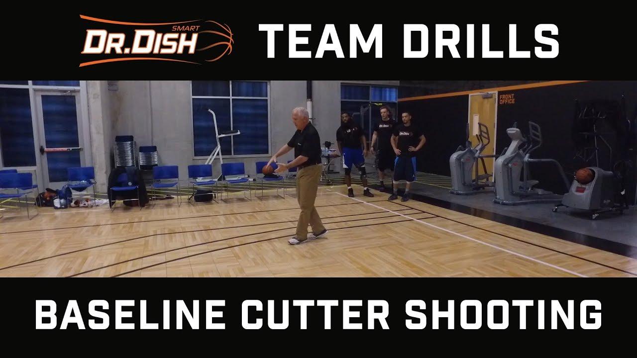 Team Basketball Shooting Drills: Baseline Cutter